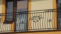 Balustrada zewnętrzna kuta